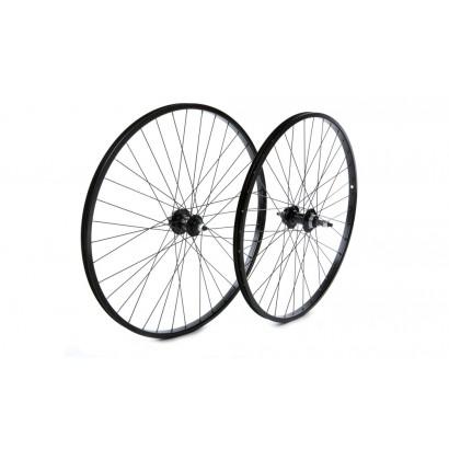 "26 x 1.75"" Front Wheel, alloy hub, Black"