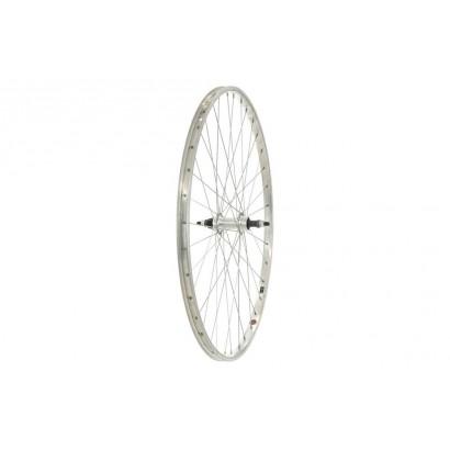700C Rear Wheel, Alloy rim, Screw-on, Nutted Axle, Silver