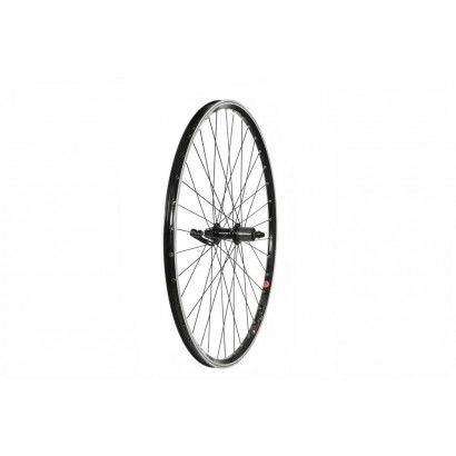 700C Rear Wheel, Mach1 240 Rim, Black, Screw-on Hub (QR)