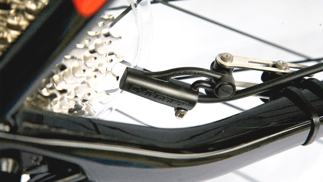 Patented Cytronex electric bike sensor fits to any bike without bicycle tools and is the only sensor needed