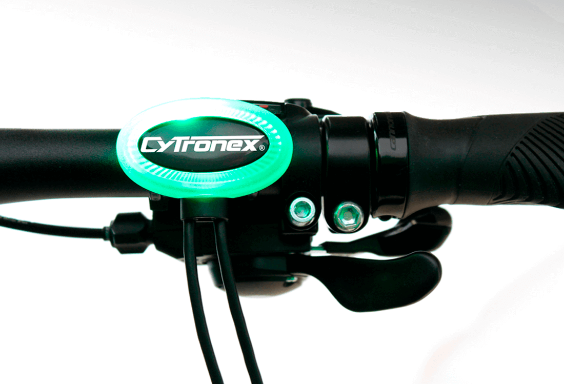 Cytronex C1 electric bike Boost Button - one button control lets you concentrate on the road, easy to press even in thick gloves