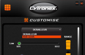 It is important to use the Cytronex App to select HUB GEAR