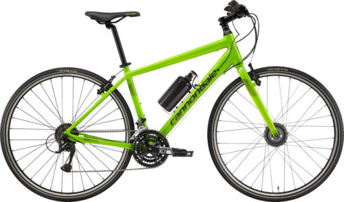 Cannondale Quick 6 bicycle fitted with Cytronex C1 electric bicycle conversion kit