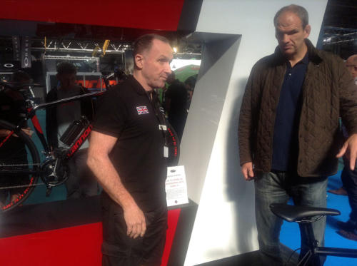 Ex England Rugby Captain Martin Johnson at Cytronex Cycle Show Stand